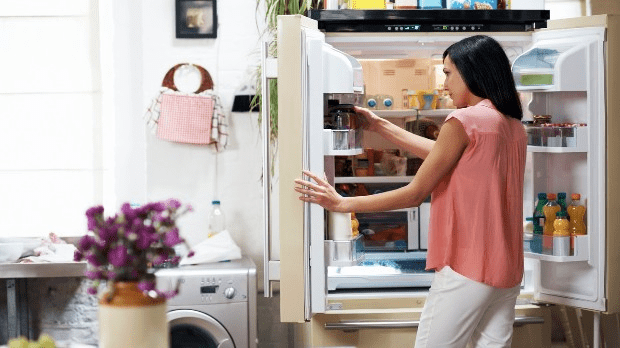 CFCs, found in appliances like refrigerators, damage the ozone layer